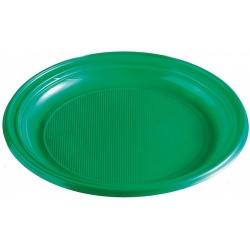 Plastový tanier zelený, 22cm, 10ks