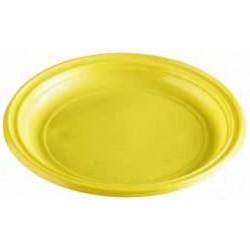 Plastový tanier žltý, 22cm