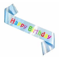 Šerpa Happy Birthday bledomodrá