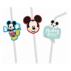 Slamky Mickey Mouse, 6ks