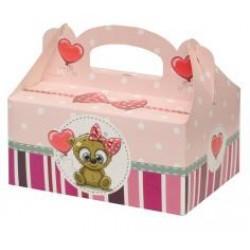 Zákusková krabica Macík s výstužou, 19x14x9cm, 5ks