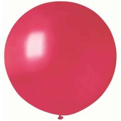 Balón veľký metalický červený, 80cm