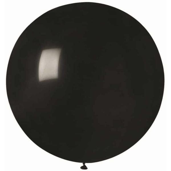 Balón veľký pastelový čierny, 80cm