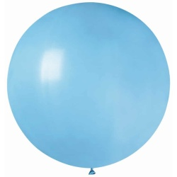 Balón veľký pastelový modrý, 85cm