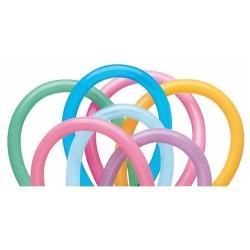 Balóny modelovacie pastelové, farebný mix,  260cm, 100ks