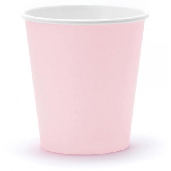 Papierové poháre bledoružový, 6ks