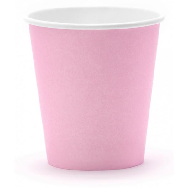 Papierové poháre pastelové farby, 6ks