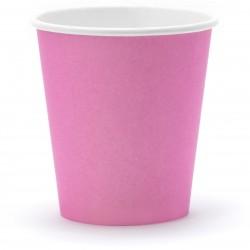 Papierové poháre ružové, 6ks