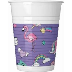 Plastové poháre Minnie Unicorn, 8ks