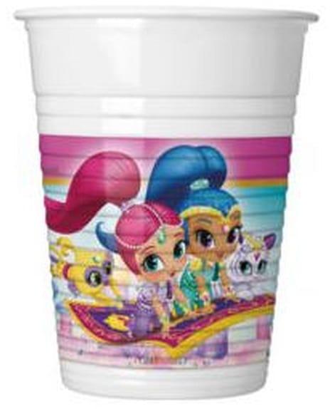 Plastové poháre Shimmer and Shine, 8ks
