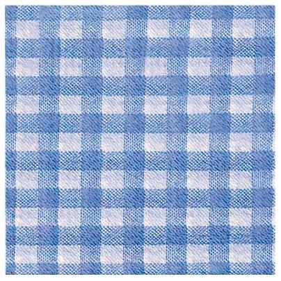 Servítky KARO modré, 33x33cm, 100ks