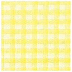 Servítky KARO žlté, 33x33cm, 100ks