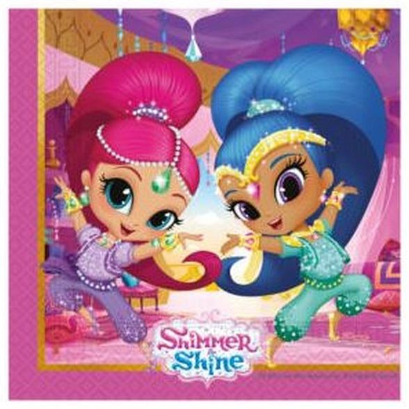 Servítky Shimmer and Shine, 33x33cm, 20ks