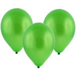 Balón metalický zelený, štandard, 30cm, 1ks
