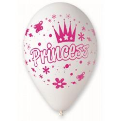 Balón Princess biely, 30cm, 1ks