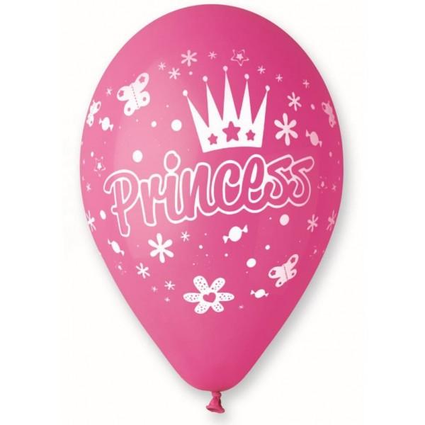 Balón Princess ružový, 30cm, 1ks