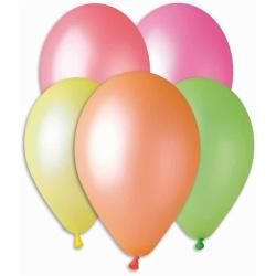Balóny fluor mix farieb, 26cm, 100ks