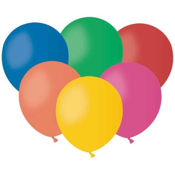 Balóny pastelové mix farieb, 13cm, 100ks