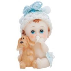Figúrka na tortu chlapček so psíkom, 6cm