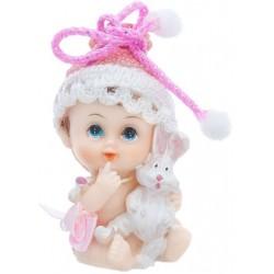 Figúrka na tortu dievčatko so zajačikom, 6cm