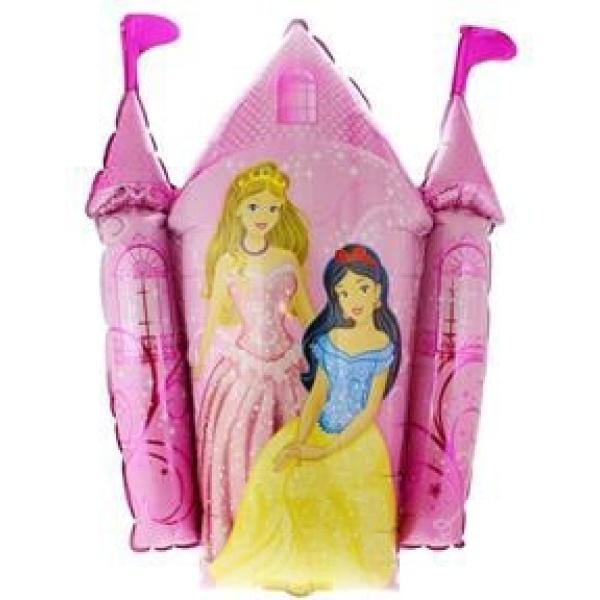 Fóliový balón hrad s princeznami, 35cm