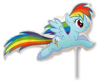 Fóliový balón My Little Ponny Rainbov Dash, 35cm