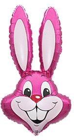 Fóliový balón Zajačik, ružový, 35cm