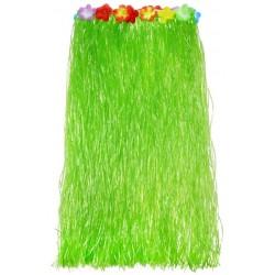 Havajská sukienka zelená, dlhá 80 cm, obvod 85cm, 1ks