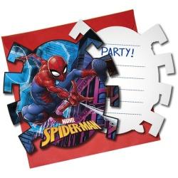 Narodeninové pozvánky Spiderman, 6ks