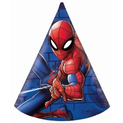 Papierové klobúčiky Spiderman, 6ks