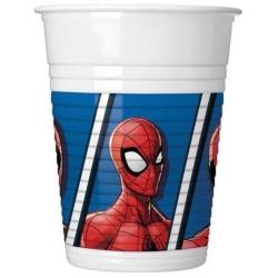Plastové poháre Spiderman, 200ml, 8ks