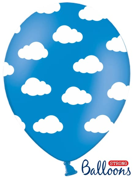 Balón obláčiky pastelový modrý, 30cm, 1ks