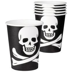 Papierové poháre Pirát, 250ml, 6ks