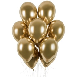 Balóny chrómové zlaté, 33cm, 1ks