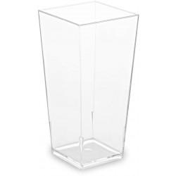 Pohárik hranatý číry, 4x4x8.2cm, 85ml, 40ks