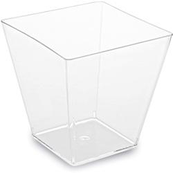 Pohárik hranatý číry, 5.9x5.9x5.4cm, 100ml, 50ks