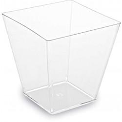 Pohárik hranatý číry, 5x5x4.5cm, 60ml, 50ks