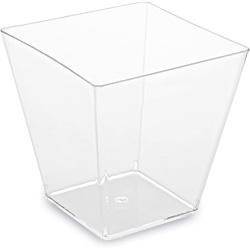 Pohárik hranatý číry, 7.2x7.2x7.2cm, 230ml, 20ks