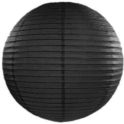 Lampión dekoračný, guľa, čierny, 45cm