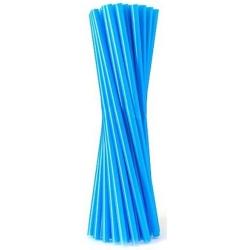 Slamky rovné, modré, 20ks
