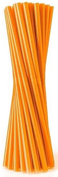 Slamky rovné, oranžové, 20ks