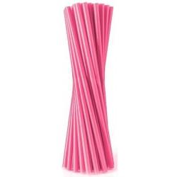 Slamky rovné, ružové, 20ks