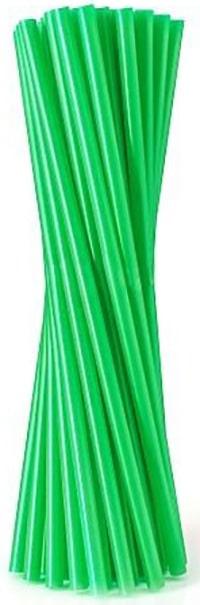 Slamky rovné, zelené, 20 ks