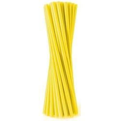 Slamky rovné, žlté, 20ks