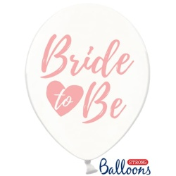Balón Bride to be zlato ružový, priehľadný, 30cm, 1ks