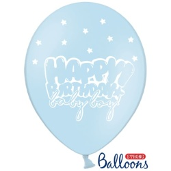 Balón Happy Birthday Baby Boy modrý, 30cm, 1ks