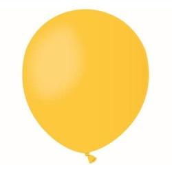 Balón pastelový žltý, 13cm, 1ks