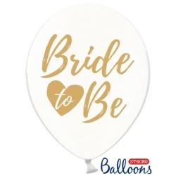 Balón priehľadný s nápisom Bride to Be, 30cm, 1ks