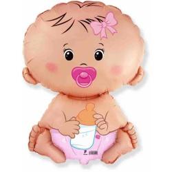 Fóliový balón Baby Girl, 35cm