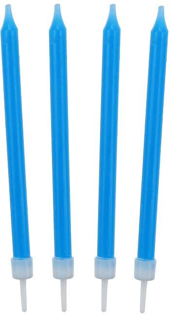 Narodeninové sviečky modré, 10cm, 10ks